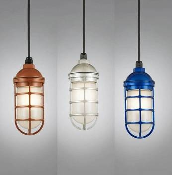 Hi Lite Manufacturing Rlm Saucer Vapor Jar Outdoor Pendant Light With Regard To Exterior Pendant Lighting Fixtures (#12 of 15)
