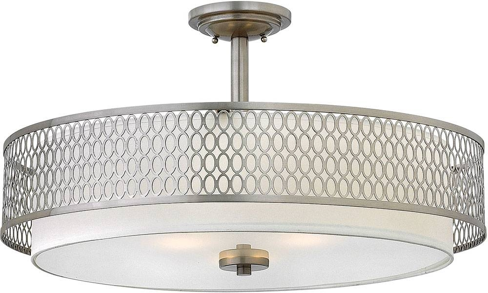 Hinkley Fr35604Bni Jules Contemporary Brushed Nickel Drum Drop For Brushed Nickel Drum Lights (#3 of 15)