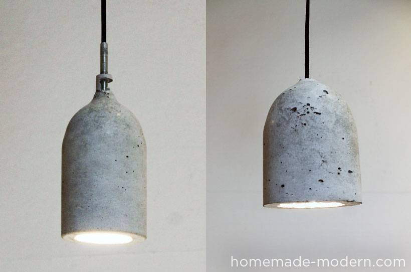 Homemade Modern Ep9 Concrete Pendant Lamp Intended For Make Your Own Pendant Lights (View 6 of 15)