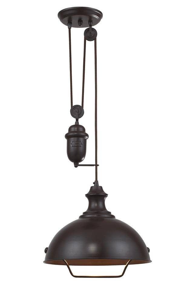 Homethangs Introduces A Guide To Industrial Style Pulley Lights Intended For Counterweight Pendant Lights (#9 of 15)