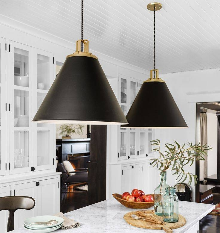 How To Hang And Decorate With Kitchen Pendant Lights For Black And Gold Pendant Lights (#7 of 15)
