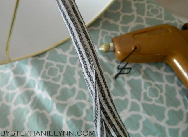 How To Make A No Sew Tailored Fabric Cord Cover For Lights And Pertaining To Cord Cover Pendant Lights (View 9 of 15)
