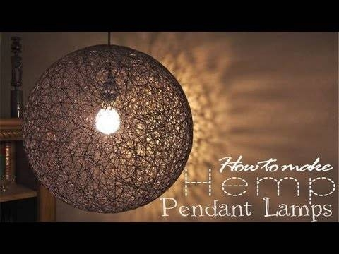 How To Make Pendant Lamp – Youtube Intended For Diy Yarn Pendant Lights (#11 of 15)