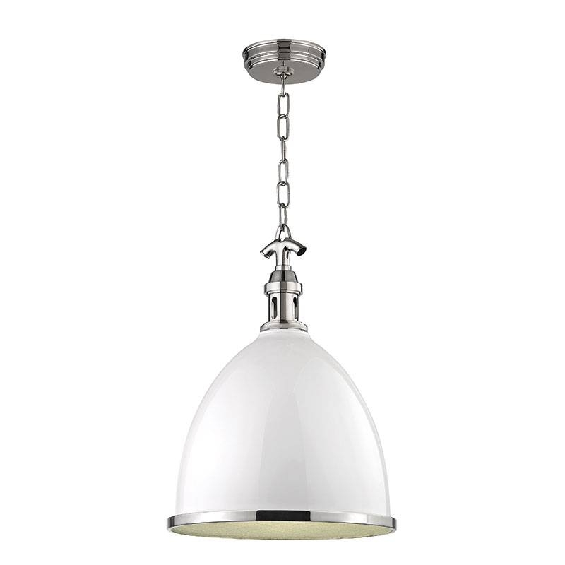 Hudson Valley 7718 Wpn Viceroy Contemporary White/polished Nickel Intended For Polished Nickel Pendant Lights (#4 of 15)