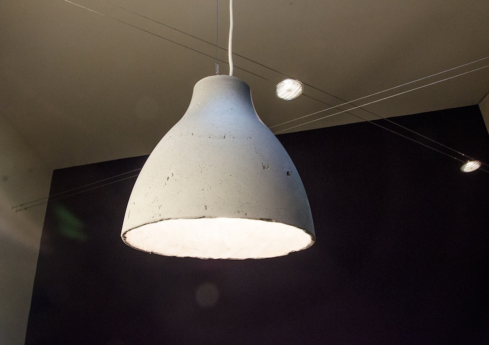 Ikea Hack: How To Make A Modern Concrete Pendant Lamp   Curbly For Diy Concrete Pendant Lights (#13 of 15)