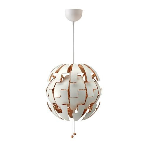 Ikea Ps 2014 Pendant Lamp – White/copper Color – Ikea Intended For Ikea Pendant Lights Fixtures (View 6 of 15)