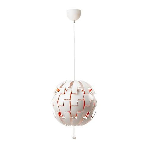 Ikea Ps 2014 Pendant Lamp – White/orange – Ikea Within Ikea Ceiling Lights Fittings (#10 of 15)