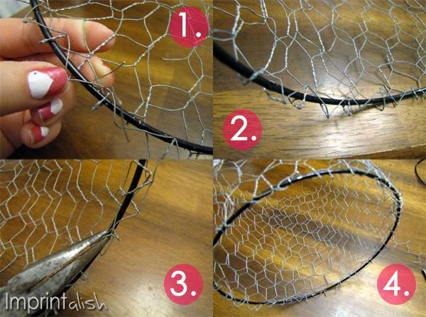 Imprintalish: Diy Chicken Wire Pendant Light Within Chicken Wire Pendant Lights (#8 of 15)