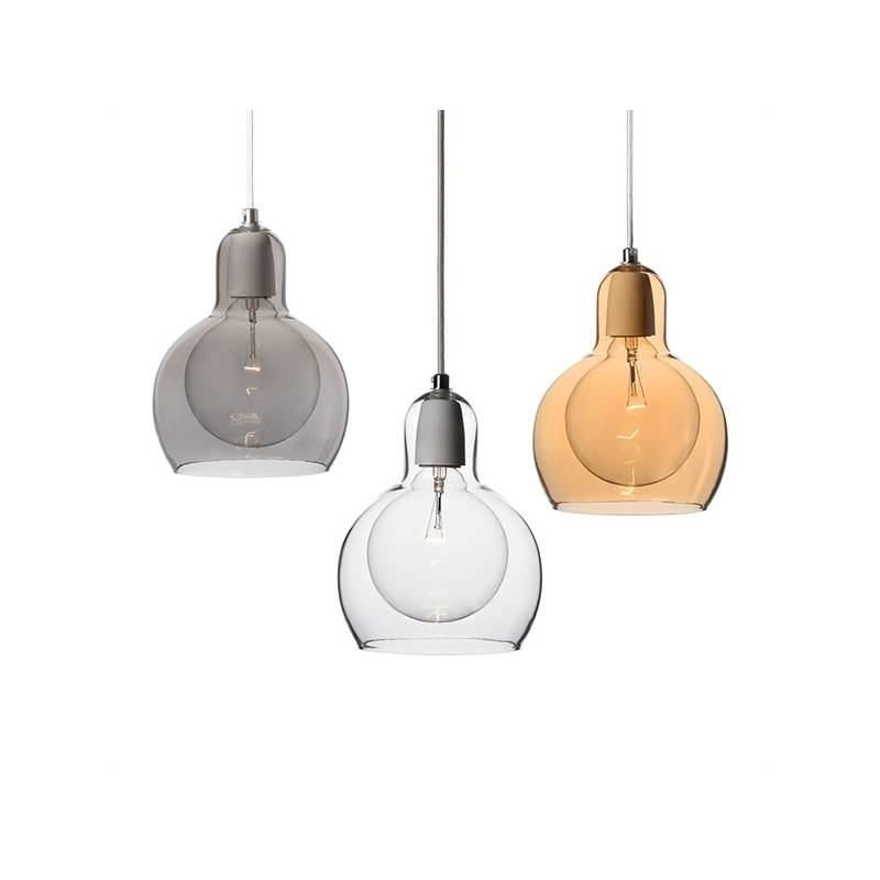In Stock) Mouth Blown Glass Modern Minimalist Pendant Light With 1 Throughout Hand Blown Glass Pendant Lights (#9 of 15)