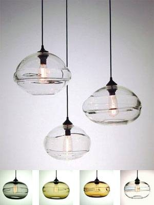 Incredible Clear Glass Pendant Lights Pendant Lights For A Kitchen Regarding Blown Glass Kitchen Pendant Lights (#11 of 15)