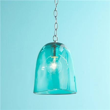 Popular Photo of Turquoise Glass Pendant Lights
