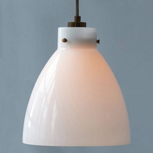Industrial Glass Pendant – Milk | West Elm Regarding Milk Glass Pendants (#10 of 15)