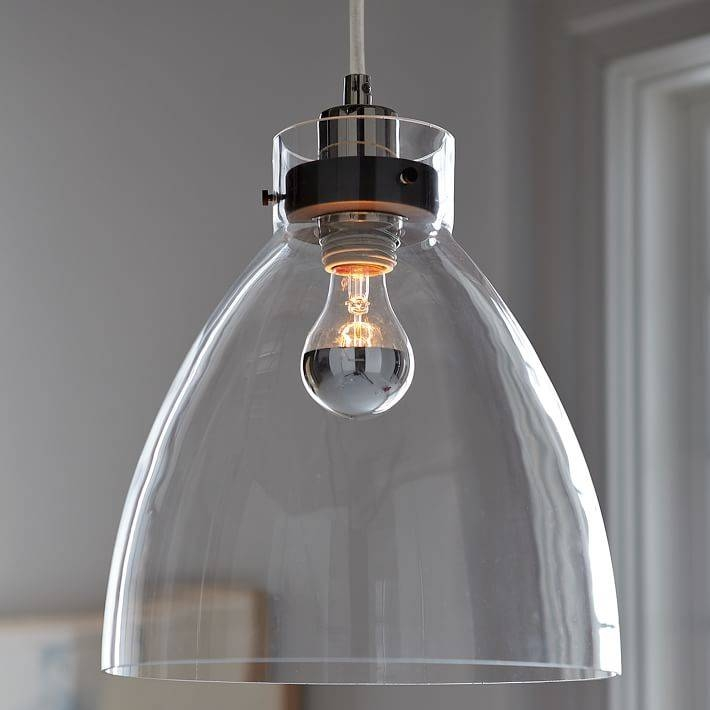 Industrial Pendant – Glass | West Elm Pertaining To West Elm Glass Pendants (View 2 of 15)