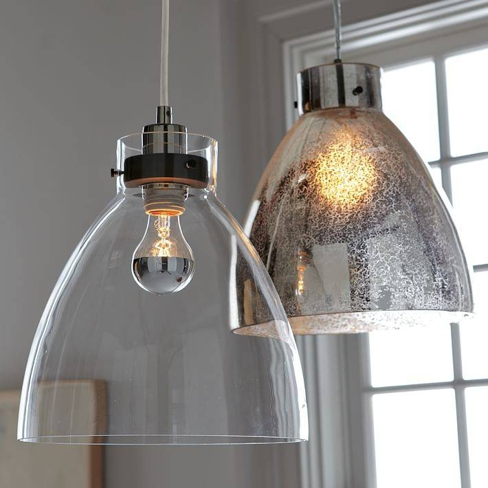 Industrial Pendant – Glass | West Elm Regarding Industrial Looking Lights Fixtures (View 10 of 15)