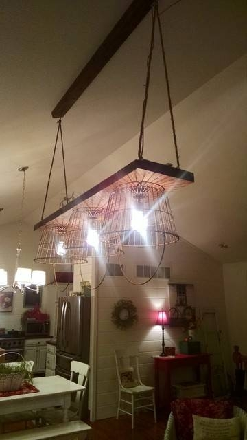 Industrial Rustic Reclaimed Wood Light Fixture With Reclaimed Pendant Lighting (View 4 of 15)