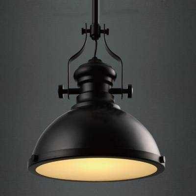 Industrial Style 12'' Wide Black Pendant Light With Diffuser In Industrial Pendant Lights (#12 of 15)