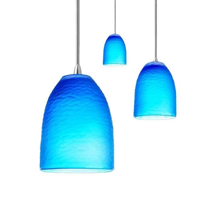 Innovative Blue Pendant Light Blue Mini Pendant Lights Hanging Pertaining To Blue Pendant Lights Fixtures (#13 of 15)
