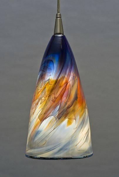 Innovative Glass Light Pendants Art Glass Mini Pendant Lights Regarding Art Glass Mini Pendant Lighting (#11 of 15)