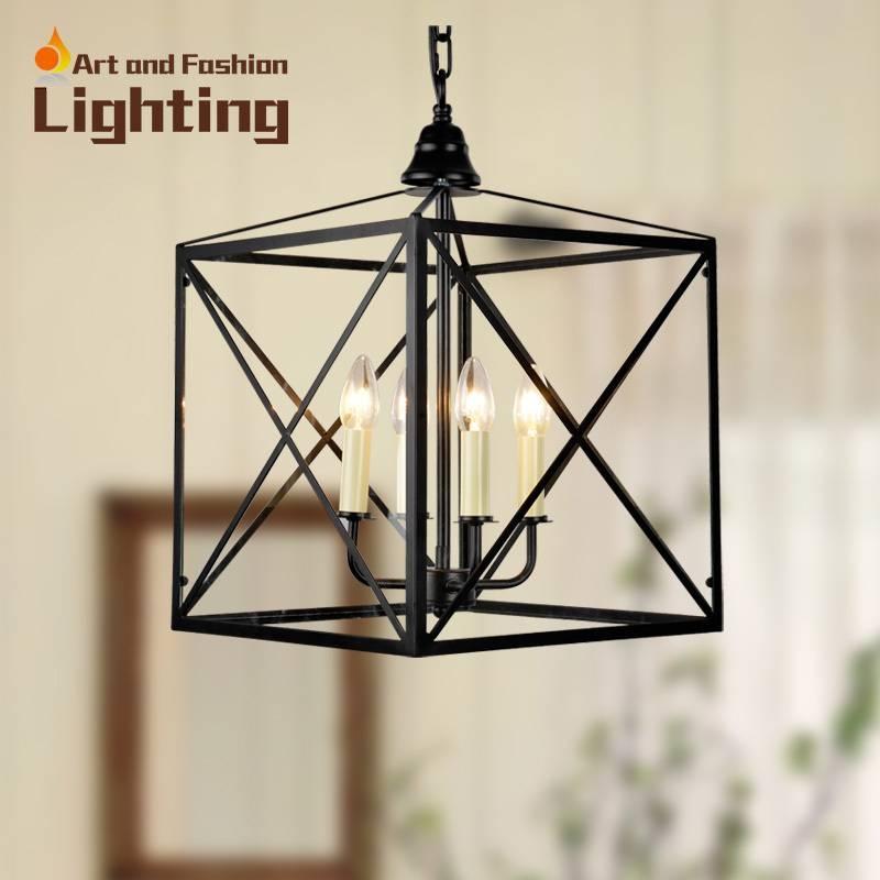Innovative Wrought Iron Pendant Light Industrial Type One Light Intended For Wrought Iron Light Pendants (View 5 of 15)