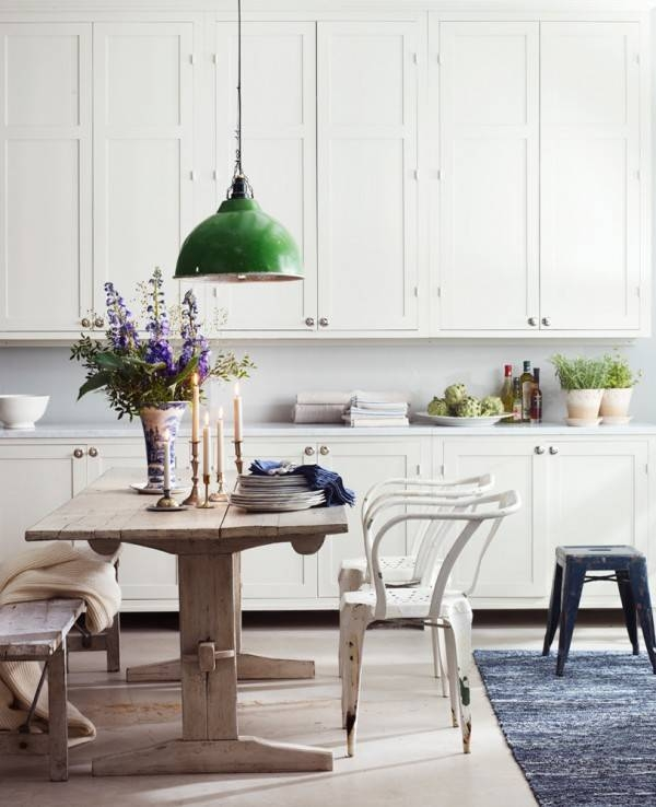 Inspired By} Green Industrial Lights – The Inspired Room With Regard To Green Kitchen Pendant Lights (#10 of 15)