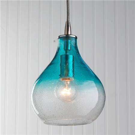 fixtures light blue pendant glass shades fixture