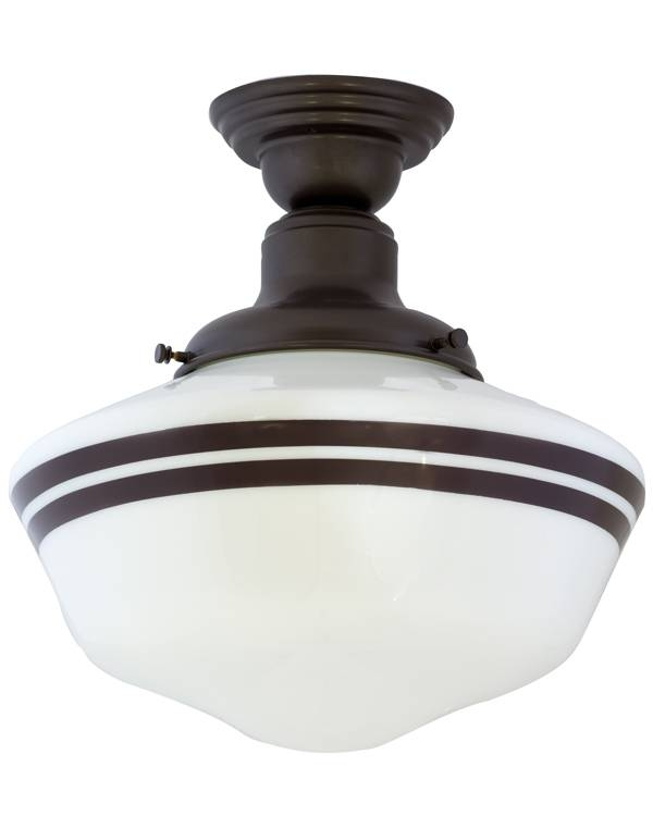 Intermediate Schoolhouse Semi Flush Light | Barn Light Electric Throughout Large Schoolhouse Lights (#5 of 15)