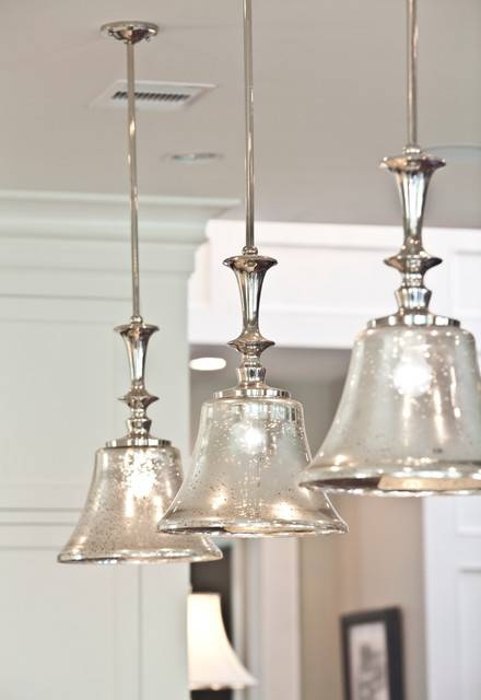 Island Pendant Lighting – Transitional – Houston  Ridgewater In Mercury Glass Ceiling Lights (#6 of 15)