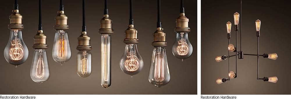 It's All About The Bulbs | My Home My Style Intended For Bare Bulb Pendant Light Fixtures (#11 of 15)