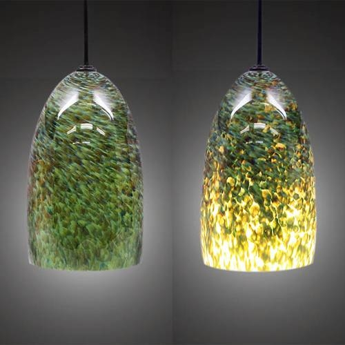 Jade Blown Glass Pendant Light | Artisan Crafted Home With Regard To Artisan Glass Pendant Lights (#8 of 15)