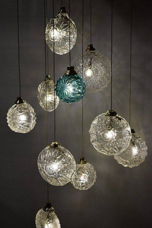 15 Best Ideas Of Cluster Glass Pendant Lights Fixtures