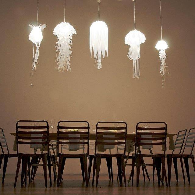 Popular Photo of Jellyfish Inspired Pendant Lights
