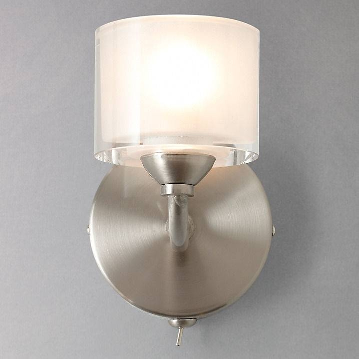John Lewis Paige Single Wall Light, Nickel 1 Light Wall Fitting Throughout John Lewis Glass Lamp Shades (#9 of 15)