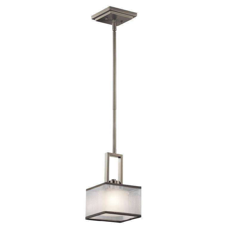 "Kichler 43442Ni Kailey Contemporary Brushed Nickel Finish 6"" Wide Inside Brushed Nickel Mini Pendant Lights (#4 of 15)"