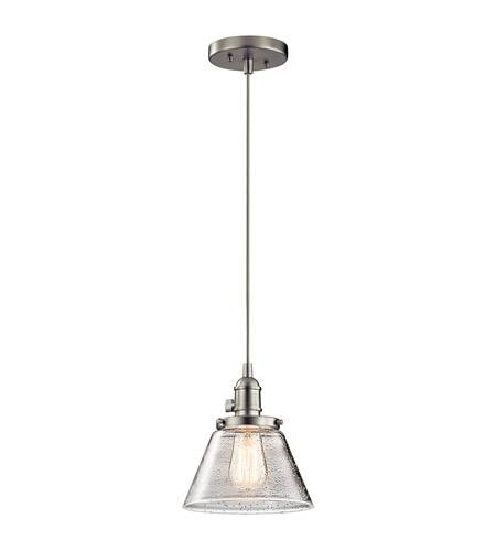 Kichler 43850Ni Avery 1 Light 8 Inch Brushed Nickel Mini Pendant Inside Brushed Nickel Mini Pendant Lights (#6 of 15)