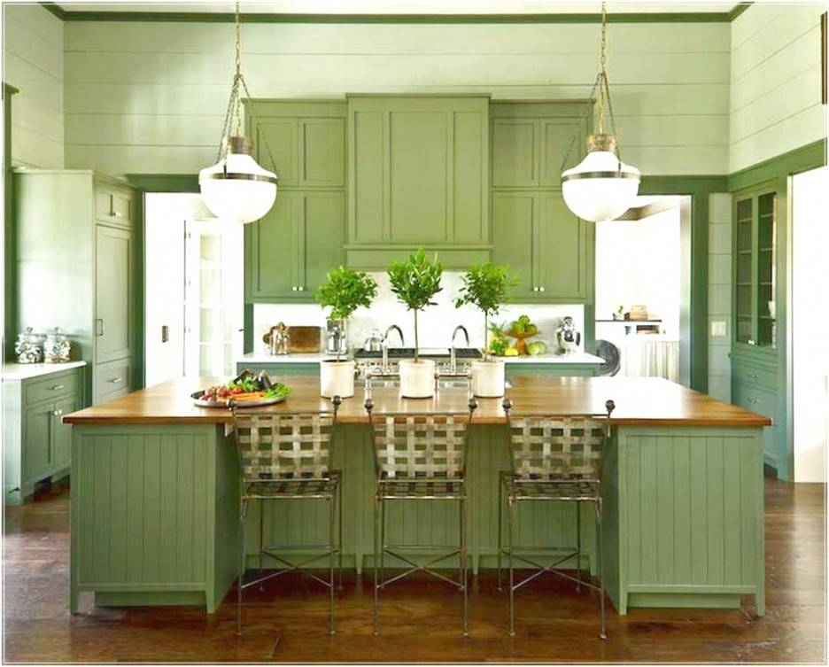 Kitchen : Awesome Green Kitchen Paint Ideas With Green Glass With Green Kitchen Pendant Lights (#11 of 15)