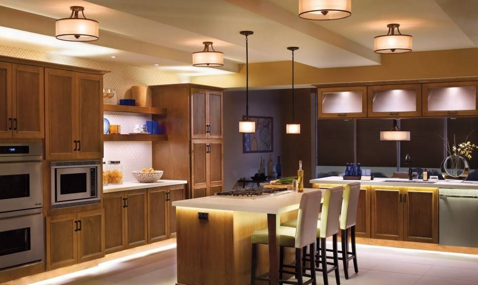 Kitchen : Beautiful Kitchen Pendant Lighting Home Depot With White Inside Home Depot Pendant Lights For Kitchen (View 14 of 15)