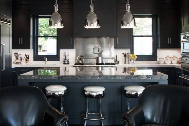 Kitchen : Black Kitchen Modern Kitchen Faucet Bulb Pendant Lights In Stainless Steel Pendant Lights For Kitchen (#3 of 15)
