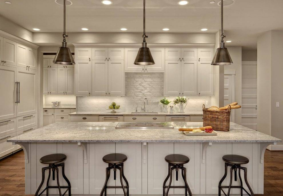 Kitchen Design Ideas Off White Cabinets Kitchen Transitional With Pertaining To Kitchen Island Single Pendant Lighting (#9 of 15)