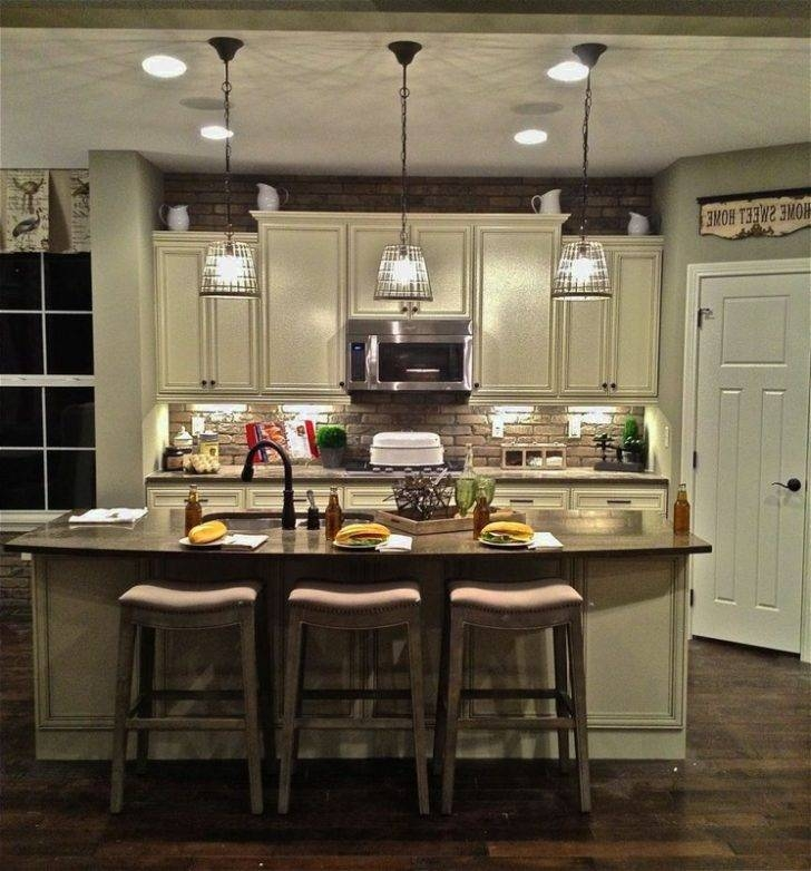 Kitchen : Inspiring Kitchen Designs Using Mini Pendant Lights Over Within Mini Pendants For Kitchen Island (#8 of 15)