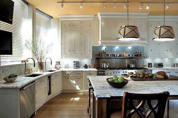 Kitchen Isalnd Pendants – Transitional – Kitchen – Peacock Cabinetry Intended For Grosvenor Pendant Lights (#14 of 15)