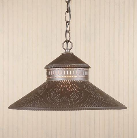 Kitchen Island Shade Light In Punched Tin With Stars Traditional With Punched Tin Lights Fixtures (#3 of 15)
