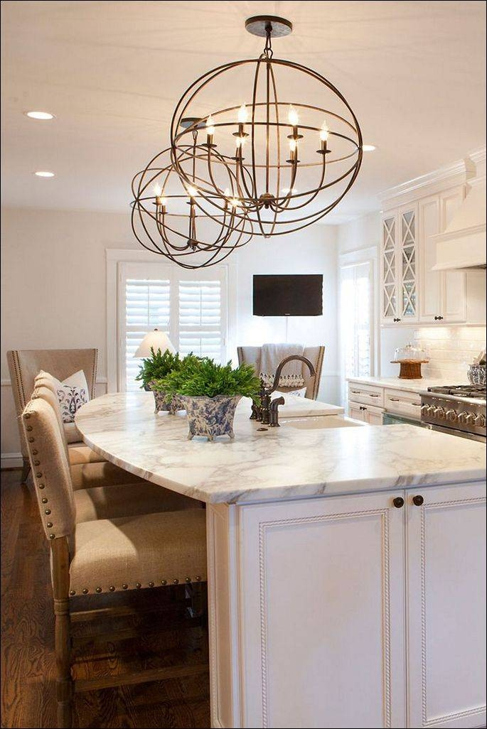 Kitchen : Kitchen Island With Columns Small Kitchen Island With In Build Your Own Pendant Lights (#14 of 15)