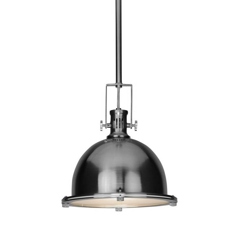 Kitchen Lighting Accessories Using Vintage Nautical Dome Stainless Throughout Stainless Steel Pendant Lights (View 14 of 15)
