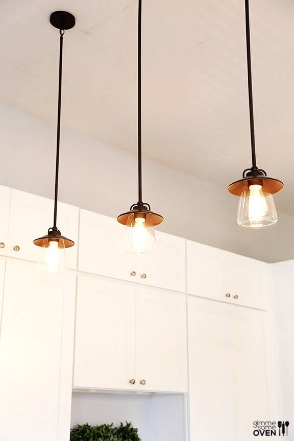 Kitchen Remodel Lighting And Flooring From Lowe's Regarding Lowes Edison Pendant Lights (#7 of 15)