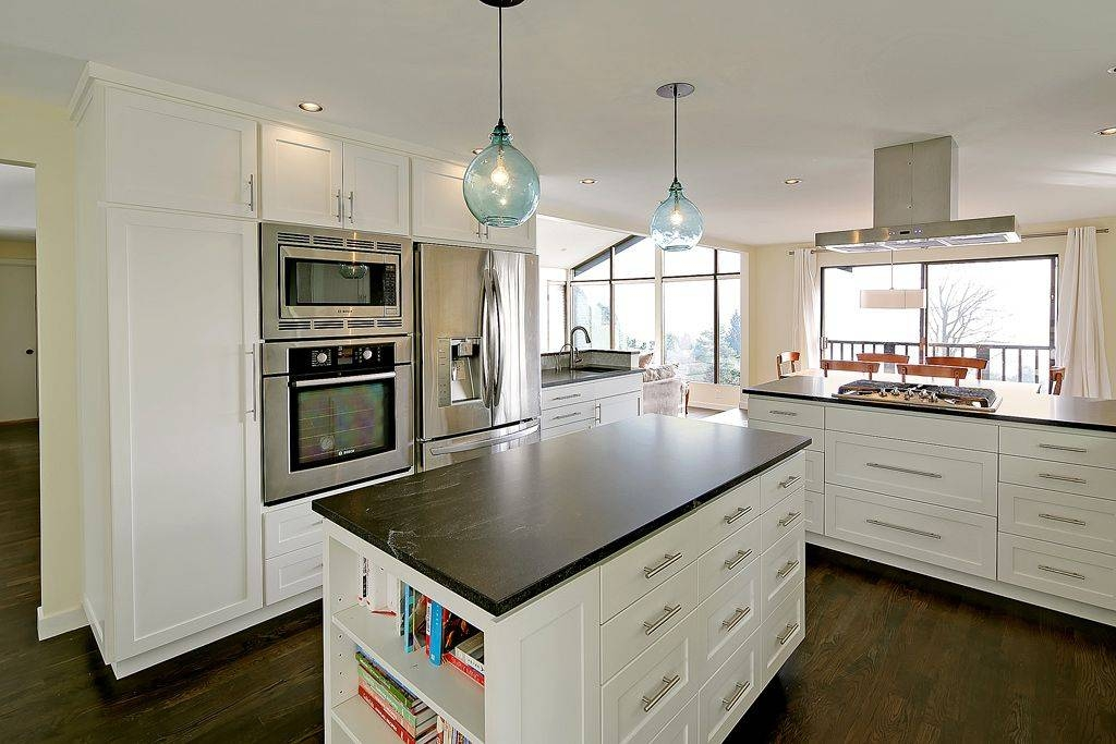 Kitchen With Soapstone Countersthomas Fragnoli | Zillow Digs Regarding Glass Jug Pendant Lights (View 12 of 15)