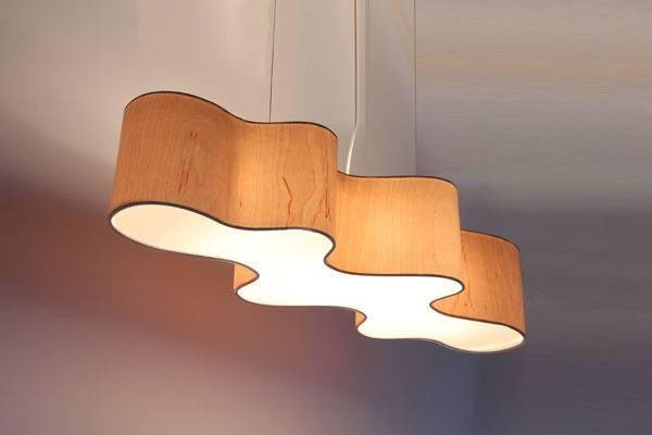 wood veneer lighting. lampa cloud mesa pendant light in wood veneer lighting pendants e