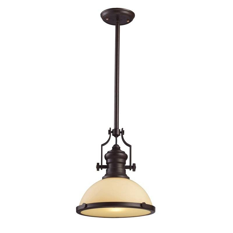 Landmark Lighting 66133 1 Chadwick 1 Light Pendant In Oiled Bronze Throughout Landmark Lighting Chadwick Pendants (#9 of 15)