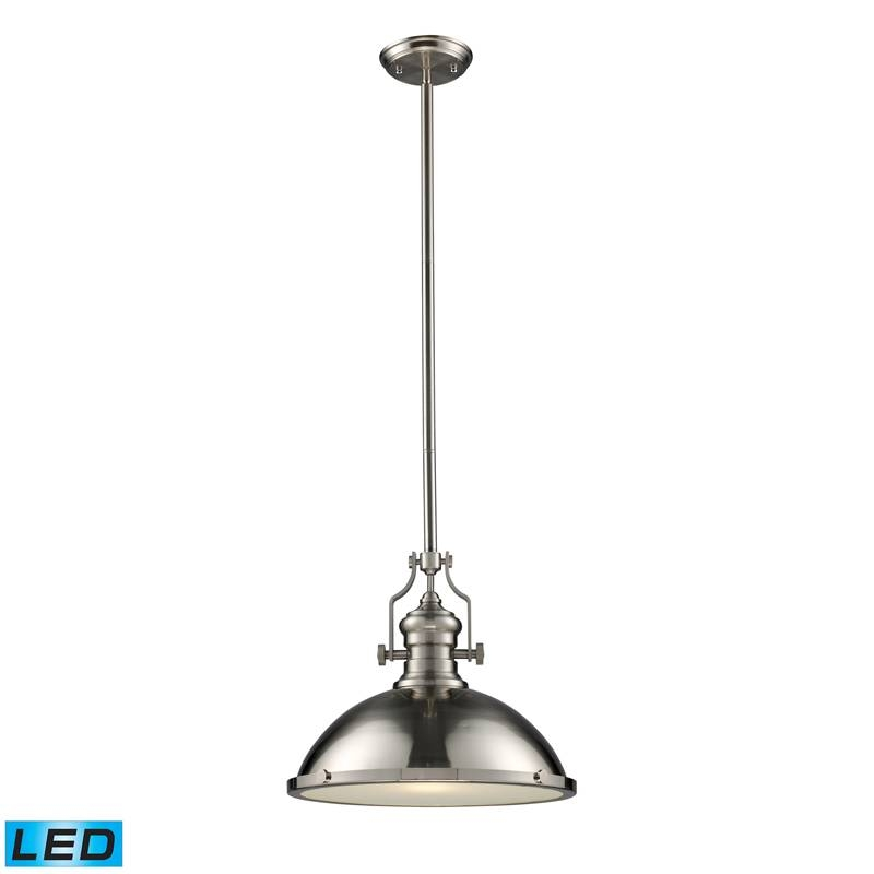 Landmark Lighting Chadwick 66128 1 Led 1 Light Pendant In Satin With Regard To Landmark Lighting Chadwick Pendants (#11 of 15)