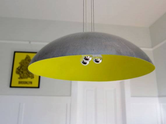 Large 26 Steel Dome Pendant Light Custom Color Throughout Large Dome Pendant Lights (#8 of 15)