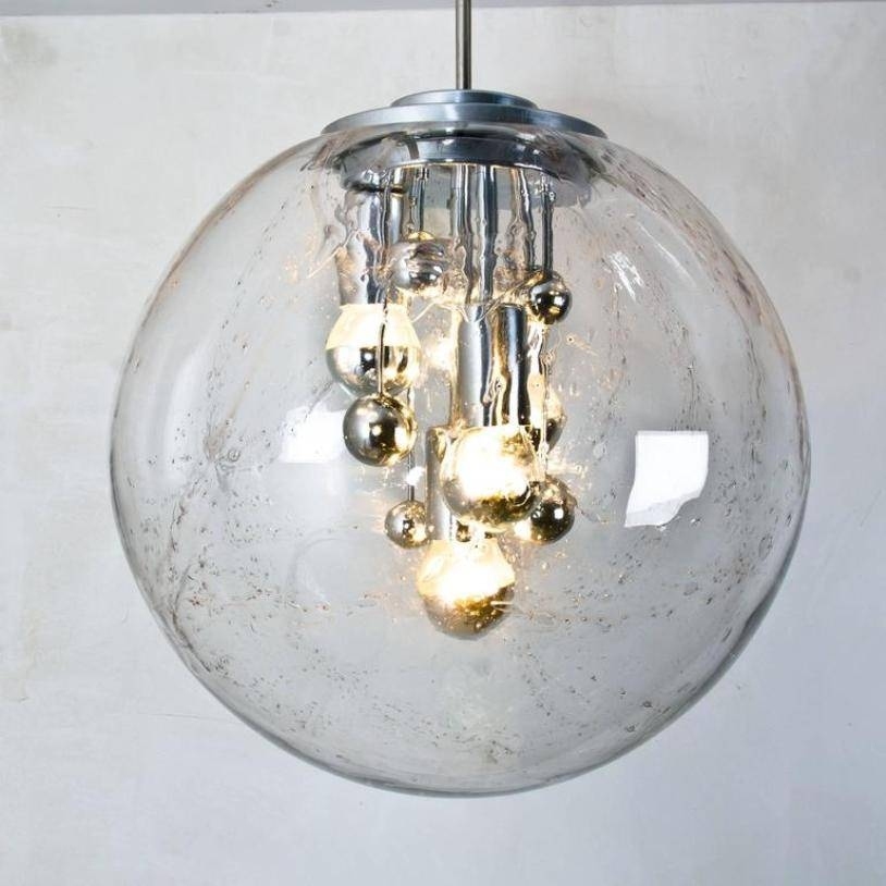 Large Handblown Bubble Glass Pendant Lights From Doria, 1970S, Set For Bubble Glass Pendant Lights (#13 of 15)